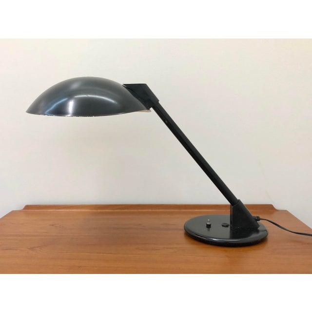 1960s Mid Century Modern Atomic Saucer Desk Lamp For Sale - Image 9 of 9