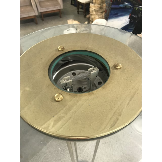 1980s Italian Brass Floor Lamp With Marble Base For Sale In Miami - Image 6 of 10