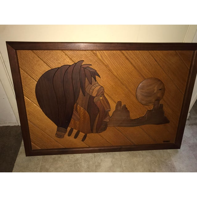 Dave Criner Wooden Inlay Sculpture For Sale In Palm Springs - Image 6 of 10