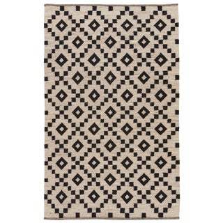Jaipur Living Croix Handmade Geometric Black/ White Area Rug - 9′ × 12′