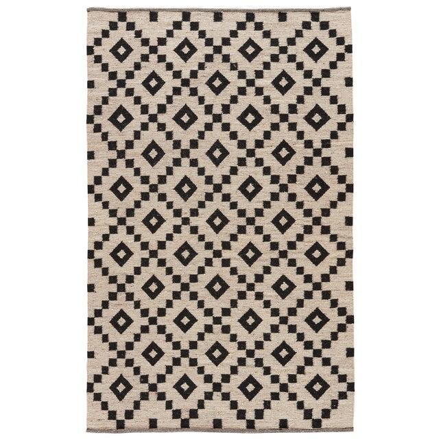 Jaipur Living Croix Handmade Geometric Black/ White Area Rug - 9′ × 12′ For Sale