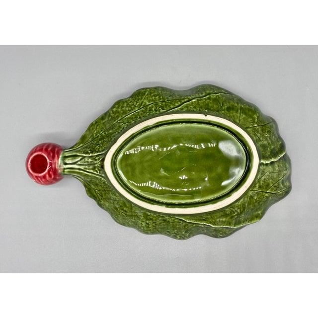 20th Century Majolica Radish Vegetable Platter/Dish For Sale In Houston - Image 6 of 10