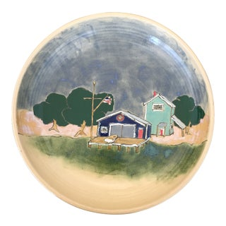 North West Hand Painted Decorative Bowl For Sale