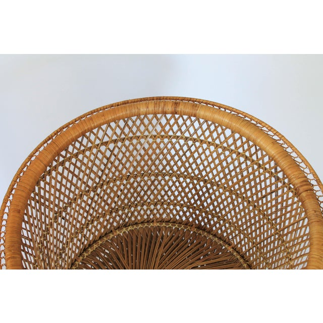 Tan Boho Style Wicker Chair and Table For Sale - Image 8 of 10