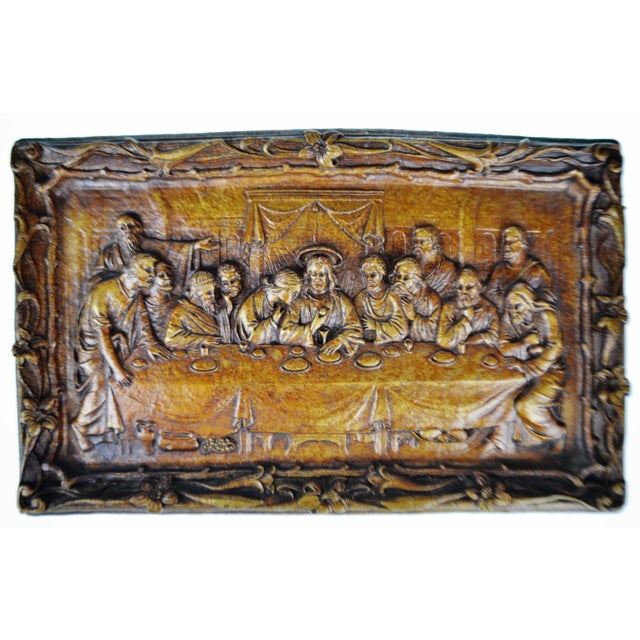 Vintage Last Supper Resin Wall Plaque For Sale In Philadelphia - Image 6 of 12