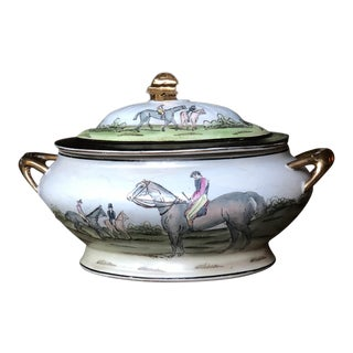 Vintage Chinese Equestrian Tureen For Sale