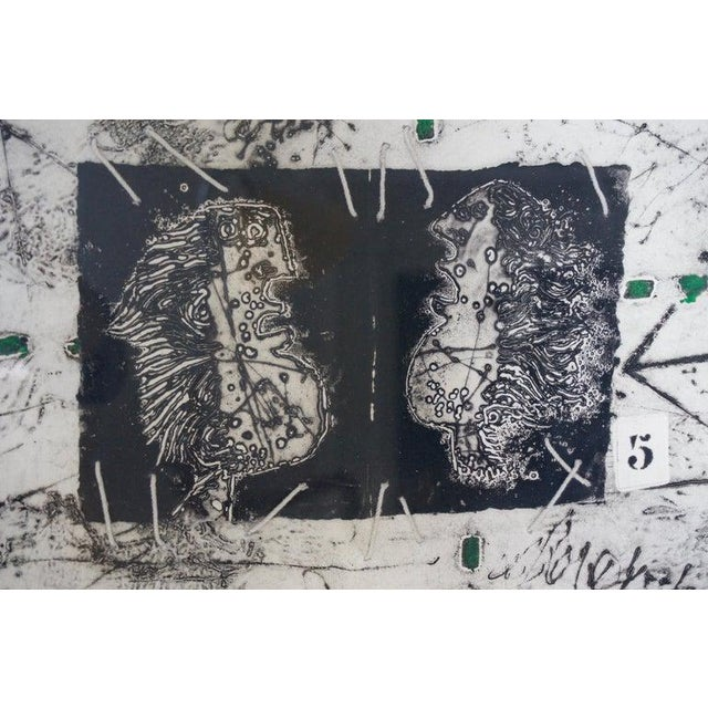 With the development of a new etching technique, using carborundum., etching then became central to James Coignard's work....