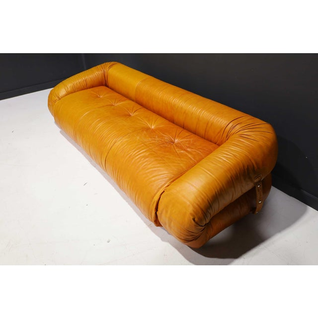Leather Leather Anfibio Sofa Bed by Alessandro Becchi for Giovannetti Collezioni, 1970s For Sale - Image 7 of 13