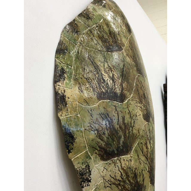 Contemporary Faux Turtle Shell Wall Decor For Sale - Image 3 of 5