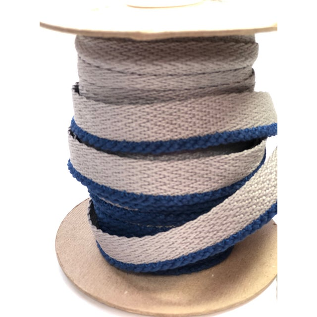"""Textile Cabled 1/8"""" Indoor/Outdoor Blue Cord Trim For Sale - Image 7 of 9"""