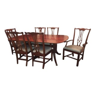 Drexel Heritage Mahogany Collectors Dining Room Set For Sale