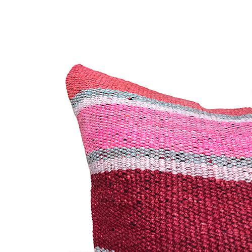 Boho Chic Kim Salmela Boho Chic Striped Peruvian Kilim Square Pillow For Sale - Image 3 of 4