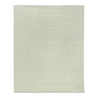 Exquisite Rugs Worcester Handwoven Wool Ivory - 6'x9' For Sale