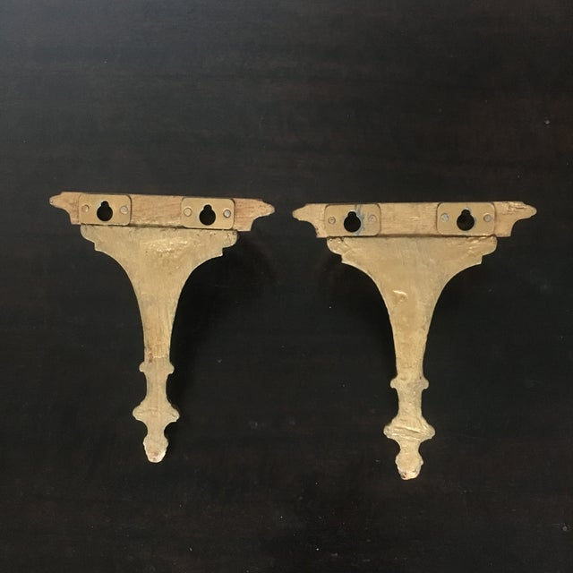 Traditional Small Shelves- a Pair For Sale - Image 3 of 4