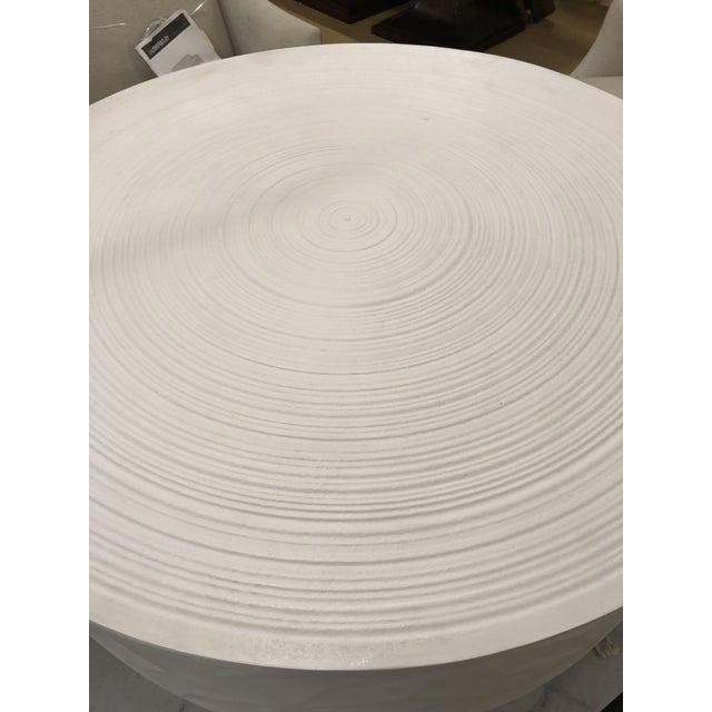 Contemporary Contemporary White Round Cocktail Table For Sale - Image 3 of 5