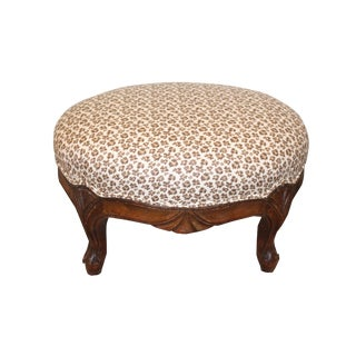 Vintage Mid Century French Footstool For Sale
