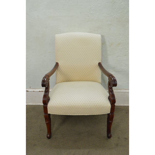 Hickory Chair Solid Mahogany Frame Empire Style Arm Chair - Image 2 of 10