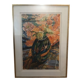 1993 Floral Still Life Edition 14/44 Serigraph by Janet Fish Waimea For Sale