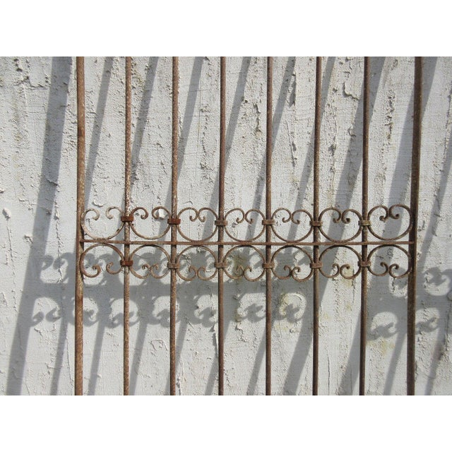 Antique Victorian Iron Gate or Garden Fence For Sale - Image 4 of 7