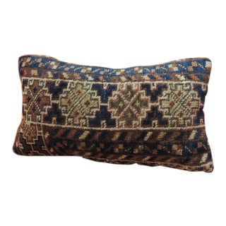 Vintage Bidjar Rug Fragment Decorative Lumbar Pillow For Sale