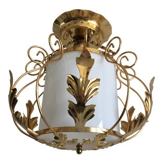 Mid-Century Acanthus Lantern For Sale