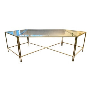 Hollywood Regency Bernhardt Metal Coffee Table Set - 3 Pieces For Sale
