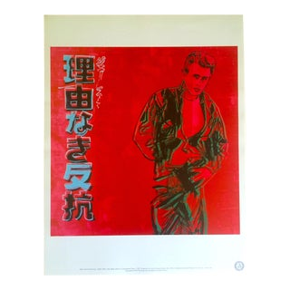 "Andy Warhol Estate Rare 1990 Collector's Lithograph Print "" James Dean - Rebel Without a Cause "" 1985 For Sale"