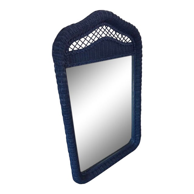 Lexington Lacquered Rattan Mirror For Sale