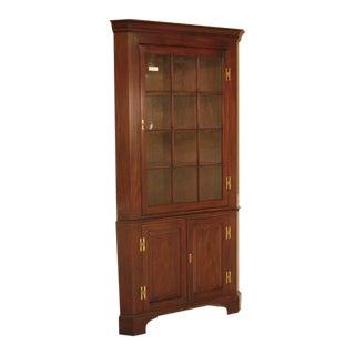 Harris 12 Pane Crackle Glass Mahogany Corner Cabinet For Sale