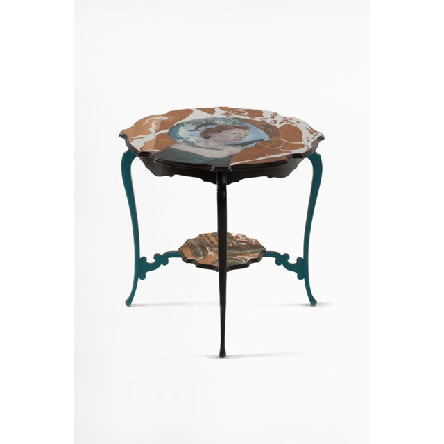 2010s You Are a Vision, Hand-Painted Side Table by Atelier Miru For Sale - Image 5 of 5