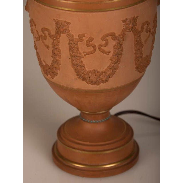 Ceramic Antique Italian Neoclassical Terracotta Urn Now Mounted as a Lamp, circa 1880 For Sale - Image 7 of 7