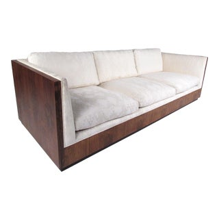 Milo Baughman Rosewood Frame Sofa for Thayer Coggin For Sale