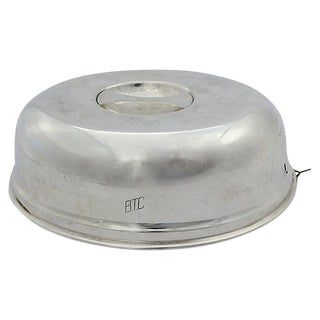 Silver-Plate Deco Hotel Ware Food Cover For Sale