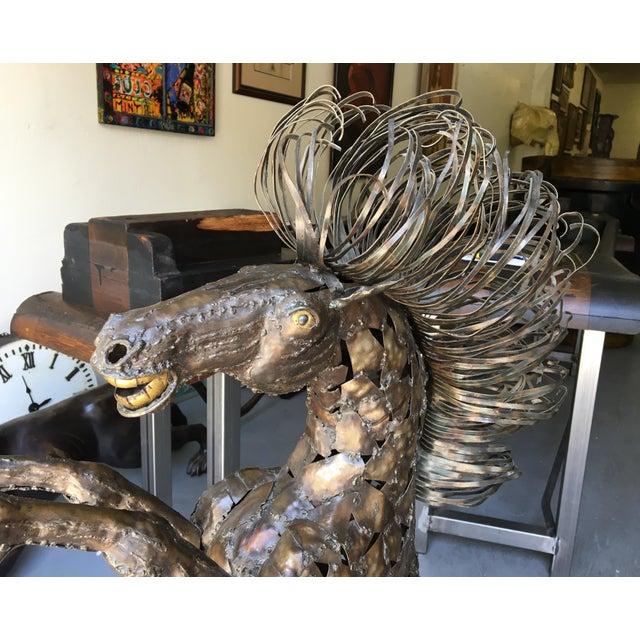 Vintage Bucking Horse Metal Sculpture - Image 7 of 11