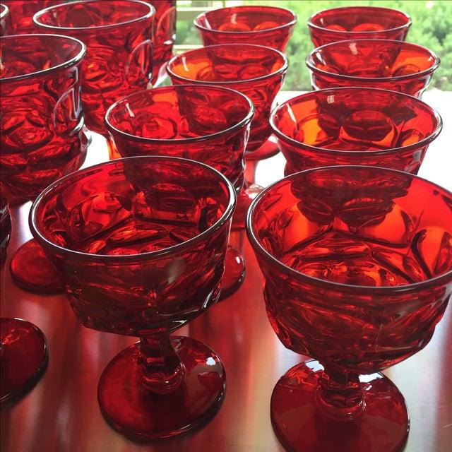 Fostoria Red Glasses - Set of 27 - Image 6 of 6