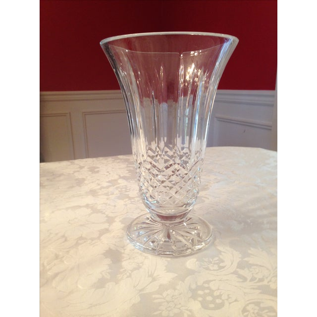 Traditional Clear Crystal Vase - Image 2 of 3