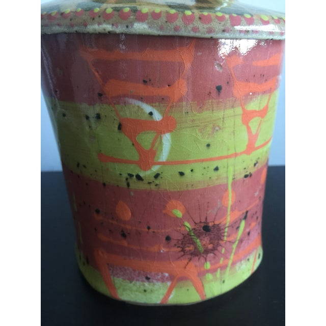 1970s Abstract Colorful Glazed Pottery For Sale In New York - Image 6 of 12
