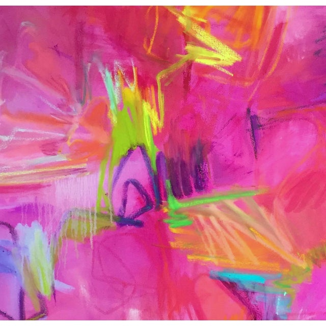 """Stunning """"Vegas Valentine"""" Large Abstract Painting by Trixie Pitts - Image 6 of 6"""