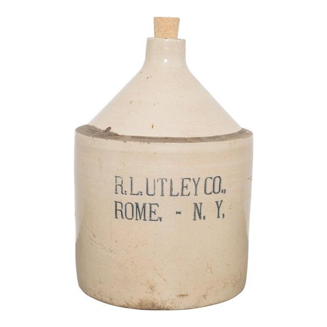 Antique Stoneware Jug C.1900 For Sale