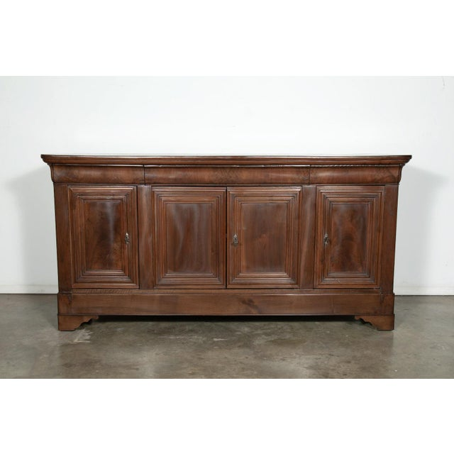 19th Century French Louis Philippe Enfilade Buffet With Bookmatched Front For Sale - Image 11 of 11