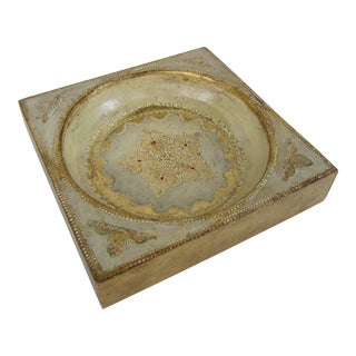 Florentine Florentina Gold and Ivory Catchall For Sale