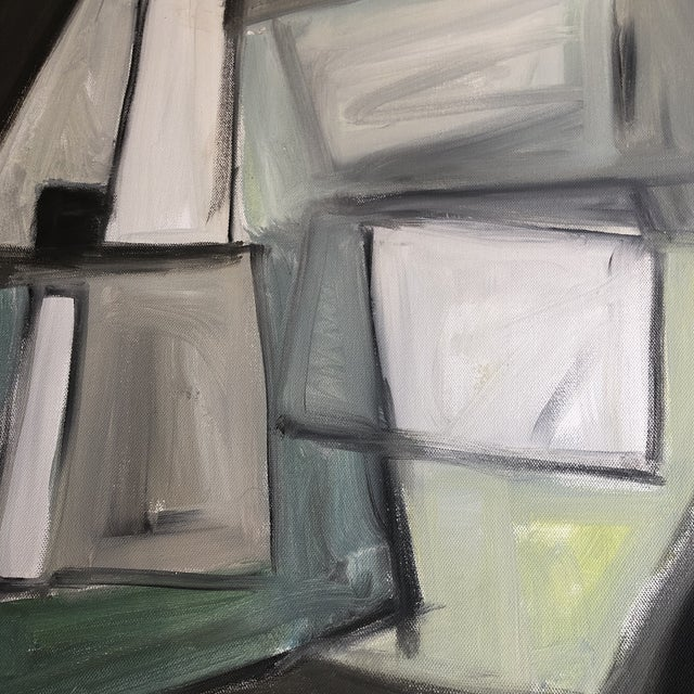 Abstract Original Stewart Ross Modernist Abstract Painting For Sale - Image 3 of 6