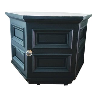 Traditional Black Hexagonal End Table For Sale