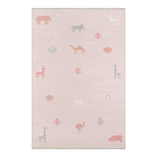"Erin Gates by Momeni Thompson Porter Pink Hand Woven Wool Area Rug - 3'6"" X 5'6"" For Sale"