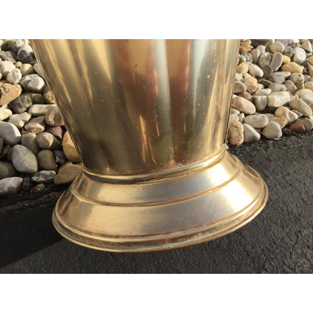 Mid-Century Brass Umbrella Shaped Stand - Image 5 of 8