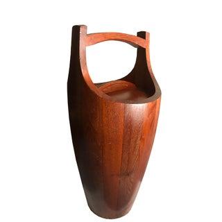 Jens Quisgaard Danish Modern Large Teak Ice Bucket for Dansk For Sale