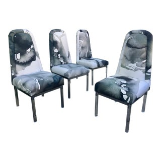 1960s Charles Hollis Jones Lucite Legs Chairs - Set of 4