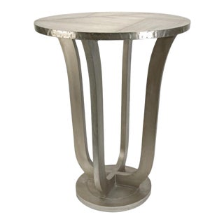 Round Industial Side Table For Sale