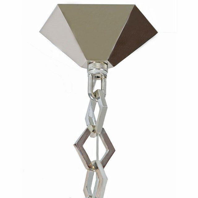Large C.J. Weinstein Style Art Deco Star Chandelier - Image 5 of 5