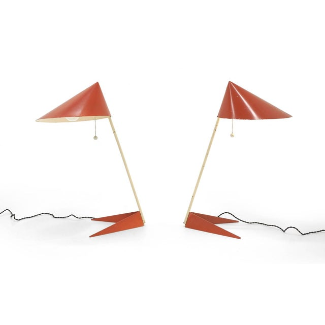 Svend Aage Holm Sorensen Svend Aage Holm Sorensen Table Lamps, Denmark, 1950 - a Pair For Sale - Image 4 of 11